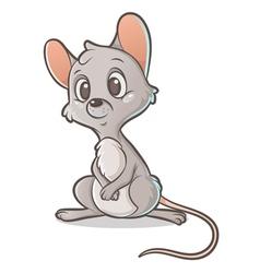 Pensive mouse vector