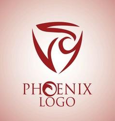 phoenix logo 7 vector image