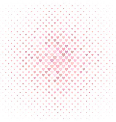 pink heart pattern background design - valentines vector image