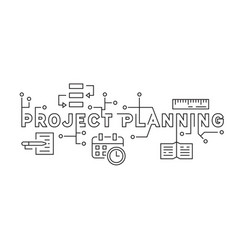 project planning and business strategy concept vector image