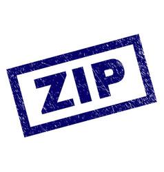 Rectangle grunge zip stamp vector