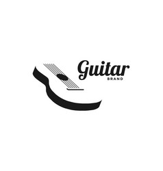 retro simple acoustic guitar string for music vector image