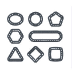 road icons for cars in form geometric vector image