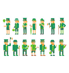 saint patricks day people vector image