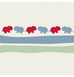 Seamless animal pattern for kids vector image