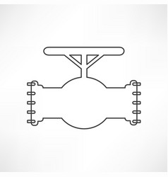 simple icon connecting pipes valve vector image