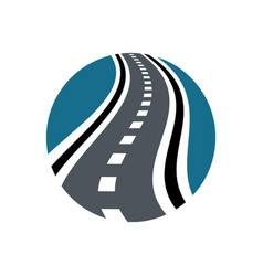 speedway logo combination highway and vector image