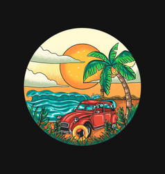 summer holiday traveling tropical beach vector image