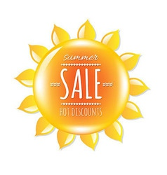 Summer Sale Banner With Symbol Sun vector image