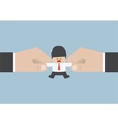 The hands are fighting for important businessman vector image