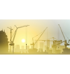 Tower Cranes vector