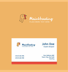 Turkey logo design with business card template vector