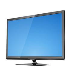 Tv screen flat lcd led vector
