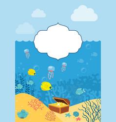 underwater background background with marine vector image