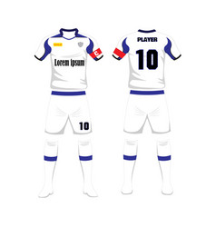football jersey front back uniform template vector images