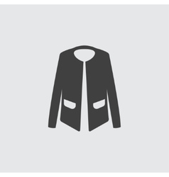 Woman jacket icon vector image