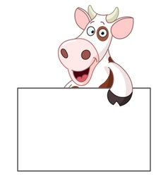 cow with sign vector image vector image
