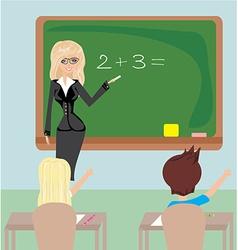 Teacher in Class vector image vector image