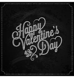 Valentines Day Chalk Vintage Lettering Background vector image vector image