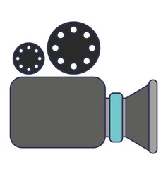 video camera icon in colorful silhouette vector image vector image