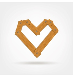 Wooden Boards Heart Shape vector image