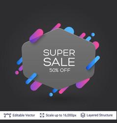 black badge super sale sticker vector image