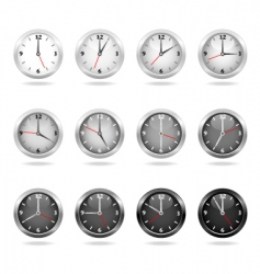 clocks and watches vector image vector image