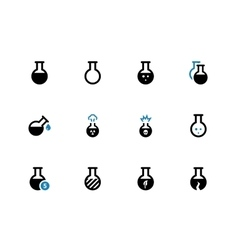 Flacon duotone icons on white background vector image vector image