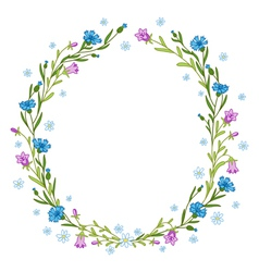 Floral wreath composition vector image vector image