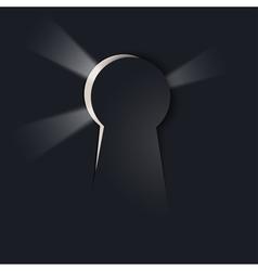 keyhole background vector image
