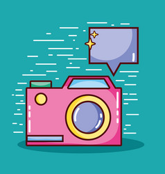 mobile app digital social communication vector image vector image