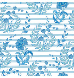 seamless floral pattern with hand draw fantasy vector image vector image