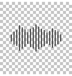 Sound waves icon Dark gray icon on transparent vector image vector image