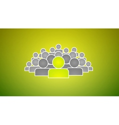 Stand out of crowd vector image