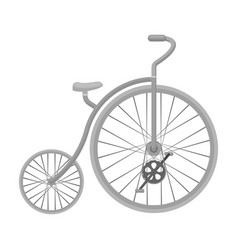 vintage bicycle the first bicycle huge and small vector image