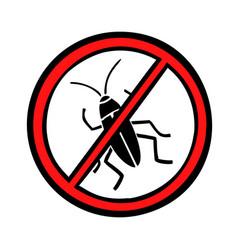 pest control cockroaches icon symbol vector image