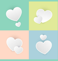 set happy valentines day color pastel icon symbol vector image