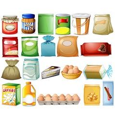 Set of foods vector image