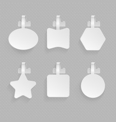 shop paper empty advertising wobblers of various vector image