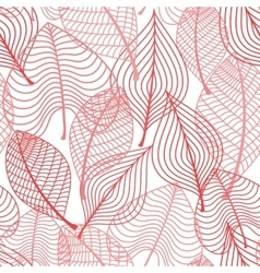 Autumnal stylized leaf seamless pattern vector image