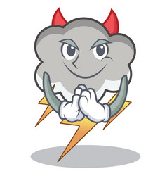 devil thunder cloud character cartoon vector image