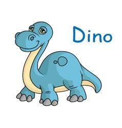 Funny blue dino vector image