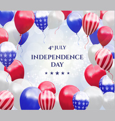 independence day of usa 4 july background vector image
