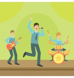 Music Band Performing On Stage vector image vector image