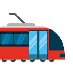 tram transport public service icon vector image