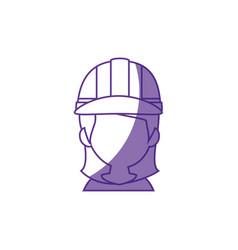 Woman worker faceless vector