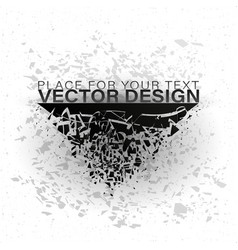abstract explosion of black glass vector image
