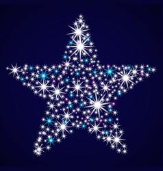 Abstract glitter star vector