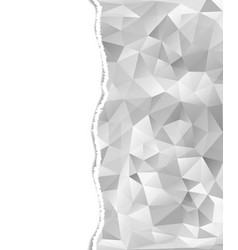 Abstract triangles with torn paper vector
