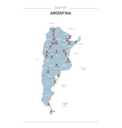 argentina map with red pin vector image